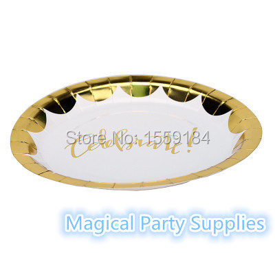 9inch Gold Paper Plate_