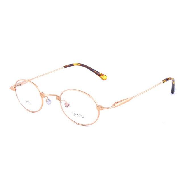 63d13cac472 Retro Rim Round eyeglasses frame myopia glasses golden clear lens round  women vintage glasses optical frame