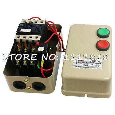 7.5KW 10 HP 14-22A Setting Amp 3 Phase AC Contactor Motor Magnetic Starter 24V C chint electromagnetism starter magnetic force starter qc36 10t motor starter phase protect magnetic force switch