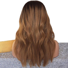 Ombre Human Hair Lace Front Wig Black Women Pre Plucked Remy Short Wig Bleached Knots Brazilian Hair Wavy Wigs 130%