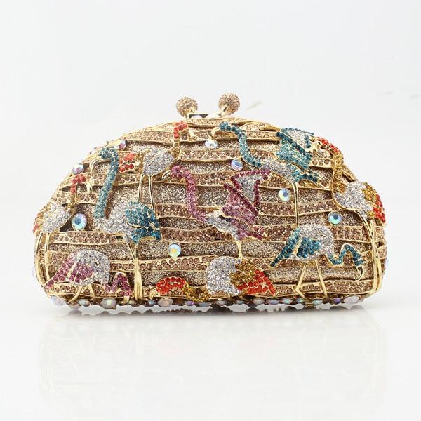 Beautiful flamingo crystal wedding clutch bags crystal clutches purse women  evening bags ladies handbag-in Top-Handle Bags from Luggage   Bags on ... dd4277b70adf6