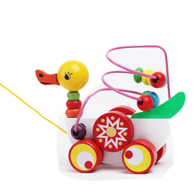Duckling Trailer Toy Baby Wooden Toys For Children Educational Toys