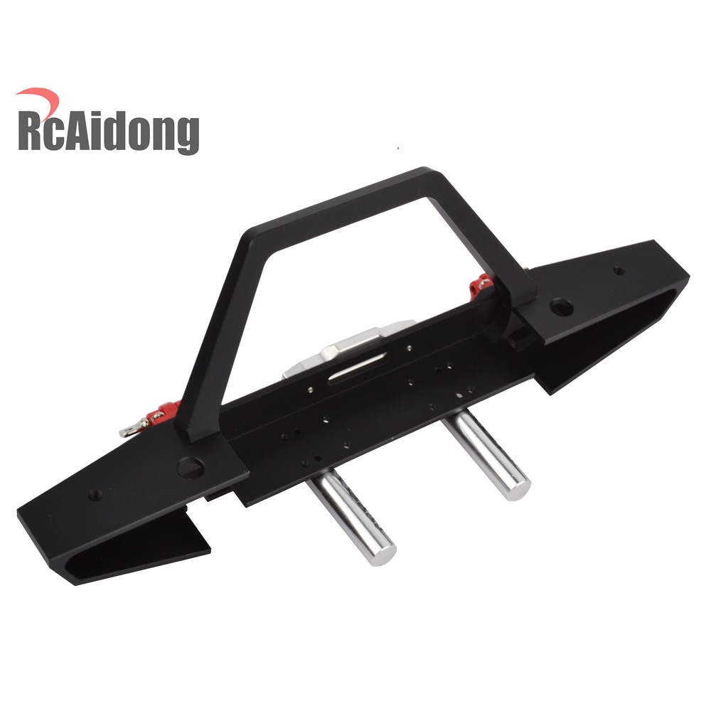RCaidong 1/10 Front Bumper Bull Bar con LED Faros Winch Mount Seat - Juguetes con control remoto - foto 5