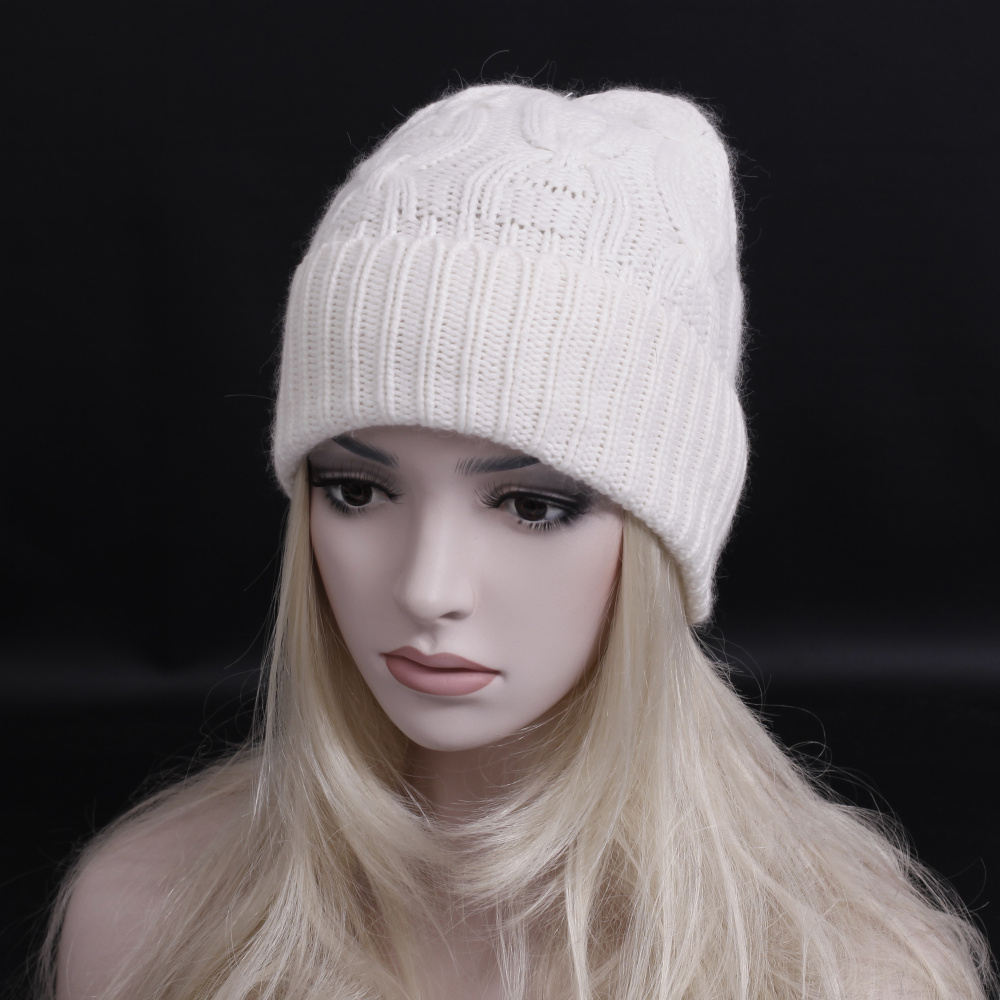 Special Offer  Winter Classic wool hat Fashion Women Men s Solid color Thick Beanie caps
