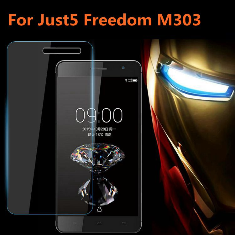 Just5 Freedom M303 Tempered Glass 9H High Quality Protective Film Explosion-proof LCD Screen Protector For Just5 Freedom M303(China)