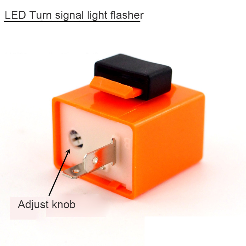 Motorcycle LED Turn Signal Light Flasher Controller Steering Lamp Flasher Cross Bike Motocross 12V Adjustable Lamp Flasher
