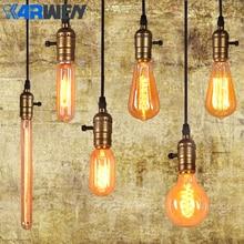KARWEN лампа Эдисона E27 220 В лампа накаливания 40 Вт винтажная лампа, подвесной светильник, ретро светильник, потолочные лампы накаливания