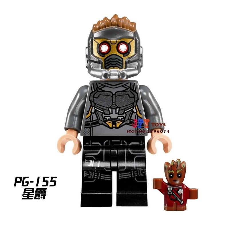 one piece star wars superhero building blocks Guardians of the Galaxy Star-Lord bricks Baby toys for children brinquedos menino