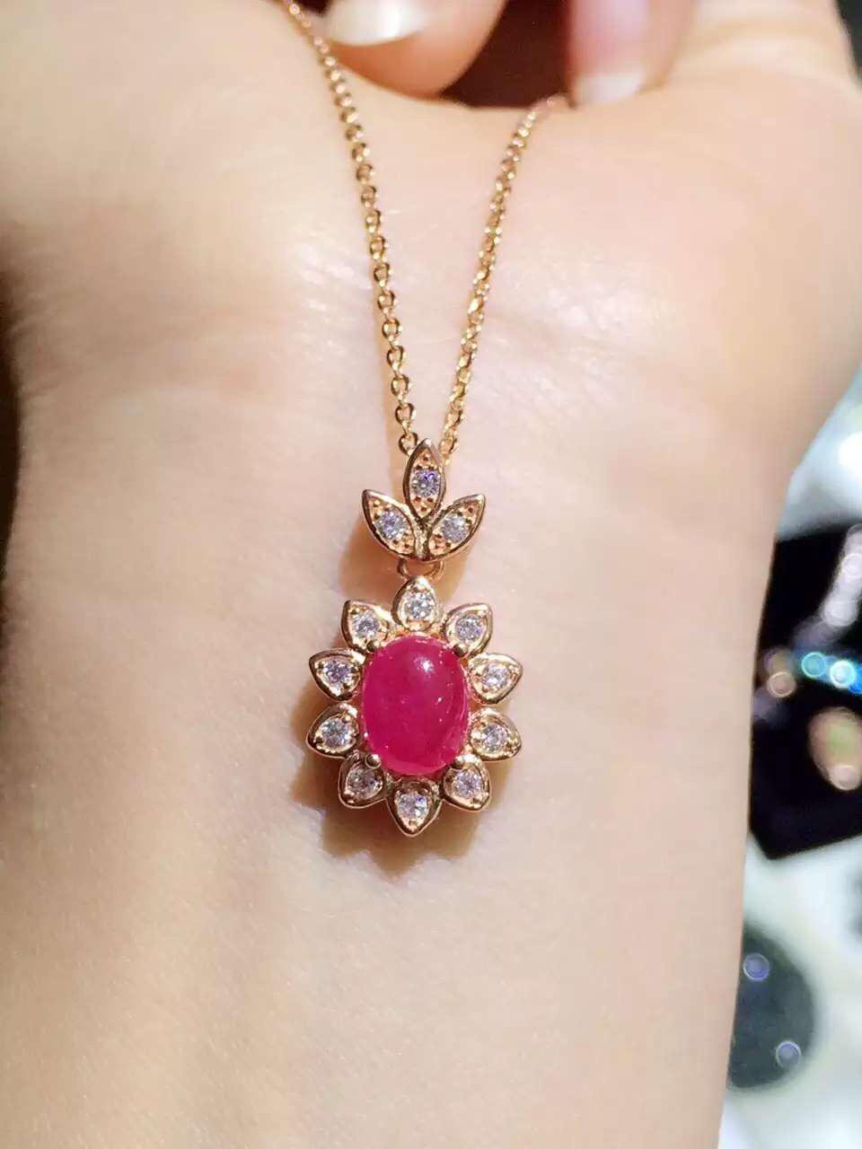 2017 Collares Collier Qi Xuan_Red Stone Fashion Pendant Necklaces_real Necklaces_Quality Guaranteed_Manufacturer Directly Sale 2017 collier qi xuan fashion jewelry