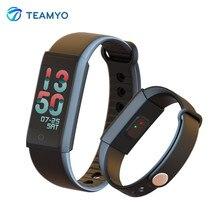 Teamyo Спорт Smart Band динамического сердечного ритма Фитнес трекер Смарт Браслет с Цвет Экран Шагомер фитнес-часы для телефона