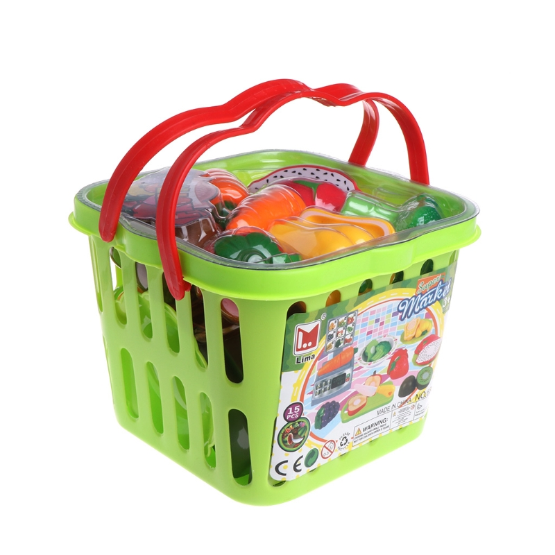 Vegetables Fruit Cutting Set Chopping Board Baby Kitchen Pretend Food Toy
