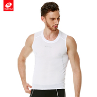 NUCKILY Summer Cycling sleeveless Vest Mesh Line Polyester Breathable Fast Wicking And Soft Touch Cycle Base Layer Sport Mn