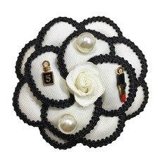 B1 Камелия, белые, черные цветы, букеты с жемчужинами, корсаж, роскошный бренд, дизайнерские украшения,, брошь на булавке, брошь для женщин, с отворотом