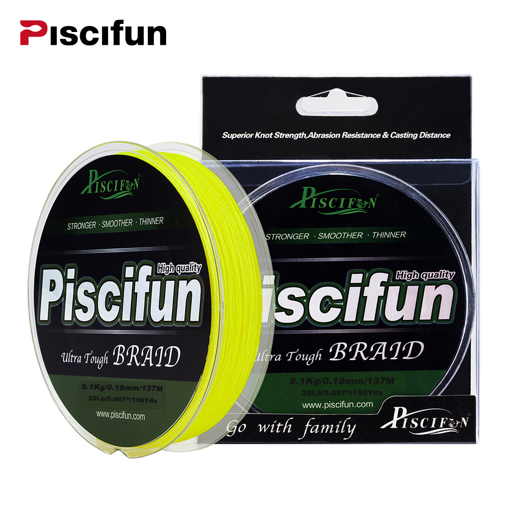 Piscifun Braided Line 137M 150Yards PE Braided font b Fishing b font Line 4 8 Stands