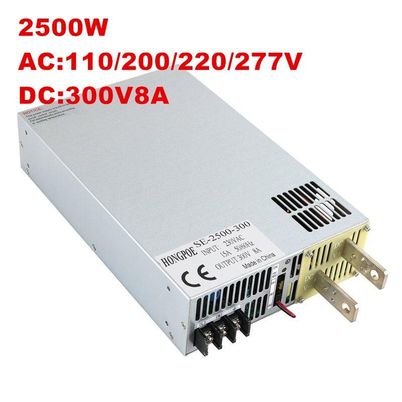 2500 W 300 V fuente de alimentación 300 V tensión de salida ajustable AC-DC 0-5 V Control de señal analógica DC300V 8.3A SE-2500-300