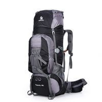 New Large 80L Outdoor Backpack Travel Climbing Backpacks Hiking Sport Bag Camping Backpack Big Capacity Mountain Nylon Rucksack