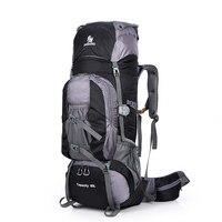 Nova grande mochila 80l para escalada  bolsa de viagem ao ar livre para trilhas  esporte  acampamento  montanha e nylon