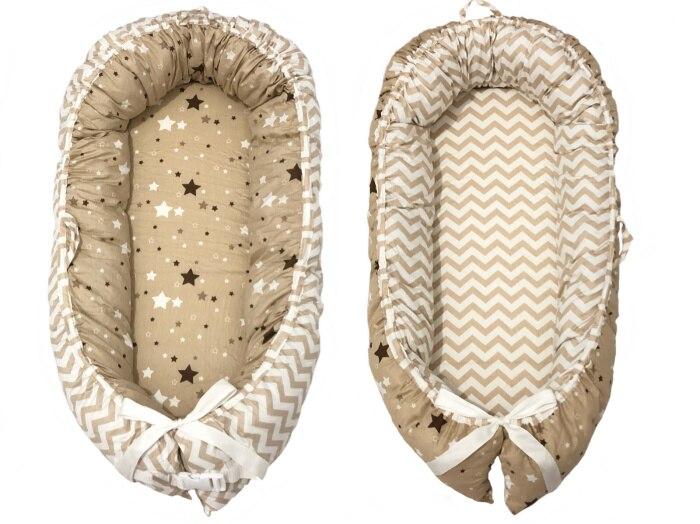 Разборные Детские гнезда кровать или малыша Размер гнезда, мята и совы, портативная кроватка, co спальное место babynest для новорожденных и малышей - Цвет: yellow stripe star2