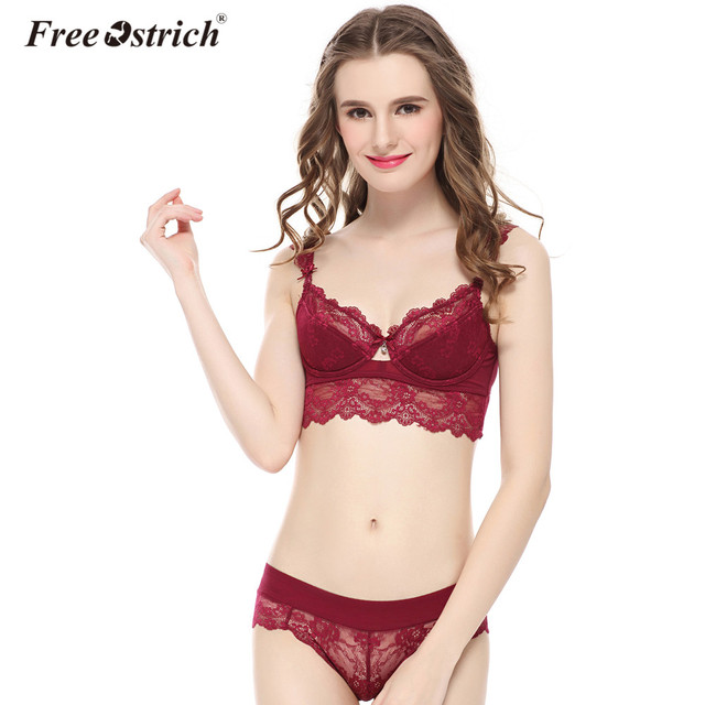 8ef6623368 Free Ostrich 2019 Sexy Lingerie Lace Padded Bra Push Up Women Bra Sets A B  C D Cup Plus