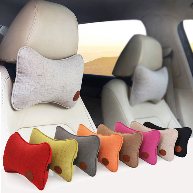 Car Neck Headrest Neck Pillows Breathable Vehicular Pillows Seat Neck Pillows Car-styling Accessories
