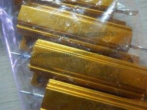 Image 2 - 50 ชิ้น/ล็อต 50 วัตต์ Metal Shell อลูมิเนียมทองตัวต้านทาน RX24 50 W 1R 2R 3R 4R 5R 6R 8R 10R 15R 50R 100R 220R 1 K OHM