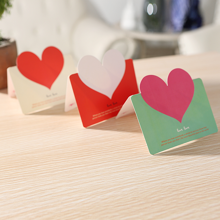 1pc heart greeting cards creative diy custom holiday folding 1pc heart greeting cards creative diy custom holiday folding greeting card birthday cards with envelope i love you card in cards invitations from home m4hsunfo