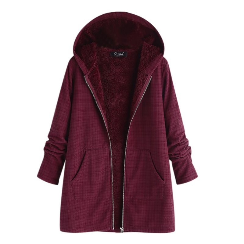 Winter Women Hooded Warm Coat plus size Solid color Cotton Padded Jacket Female Long   Parka   Womens Wadded jaqueta feminina