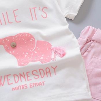 Newborn baby boys smile clothes sets t-shirt +shorts 2pcs 4