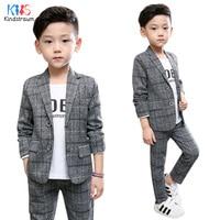 Kindstraum 2pcs Boys Gentleman Formal Suits Striped Fashion Blazer+Pant Kids Wedding Suits Children Party Clothing Sets, MC929