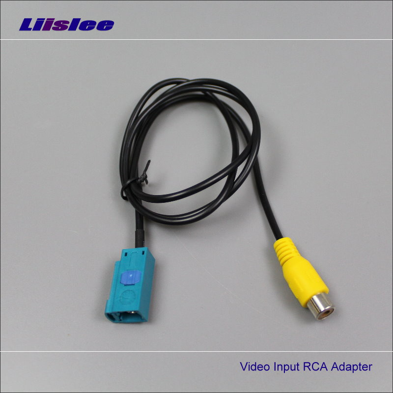 Liislee Original Video Input RCA Adapter Wire For Mercedes Benz C Class W204 2012 -2014 Rear Back Camera Switch Connector Cable