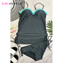 GIRLANDSEA New 2019 One-pieces Swimsuit Patchwork