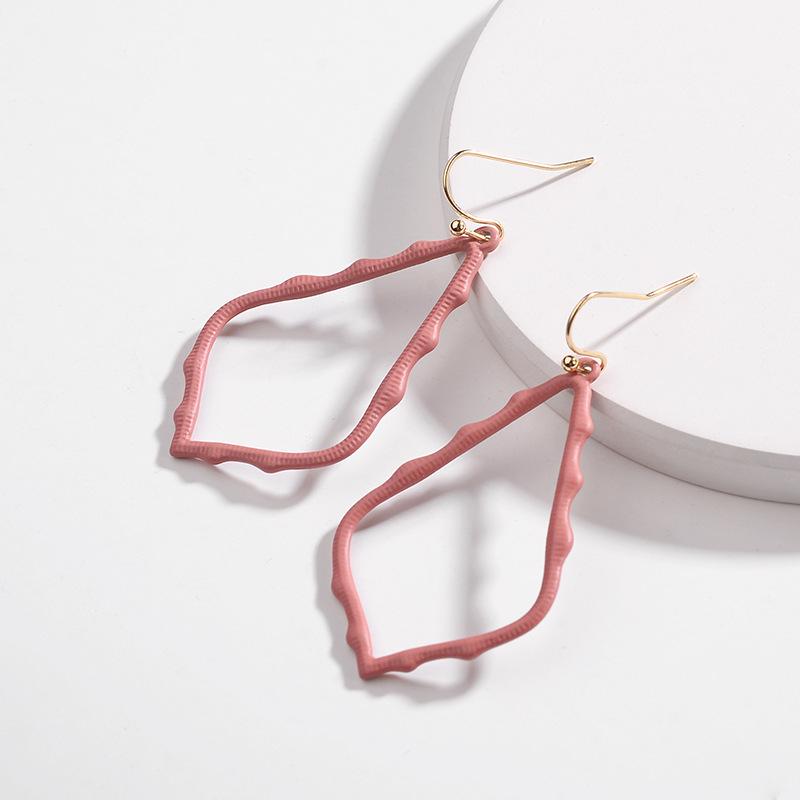 15 Colors Designer Frame Teardrop Earrings for Women Fashion Jewelry Painting Metal Water Drop Earrings Statement Earrings 25