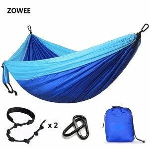 Image 1 - 300*200cm Ultra grand 2 3 personnes dormir Parachute hamac chaise Hamak jardin balançoire suspendu extérieur Hamacas Camping 118*78