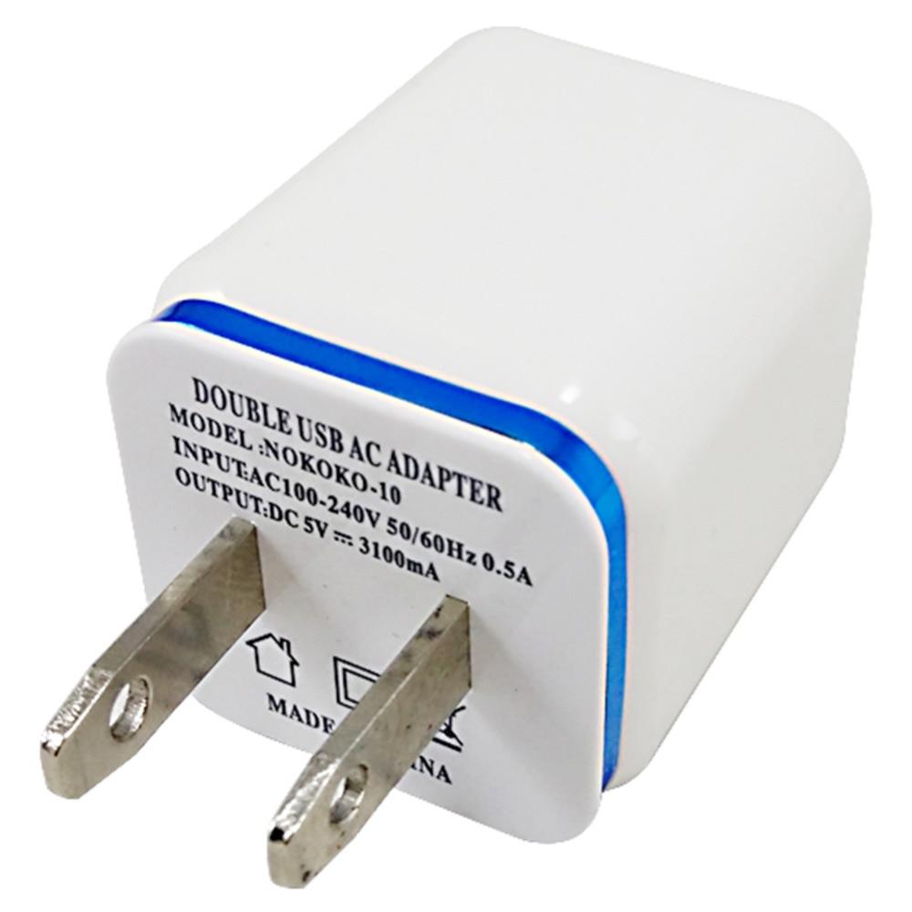 US Plug Dual USB Charger AC Wall Charger Adapter