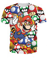 Women/Men Cartoon 3D Fashion Super Mario on Shrooms T-Shirt tee Mario's psychedelic drug chew the magic mushrooms T Shirts Tees