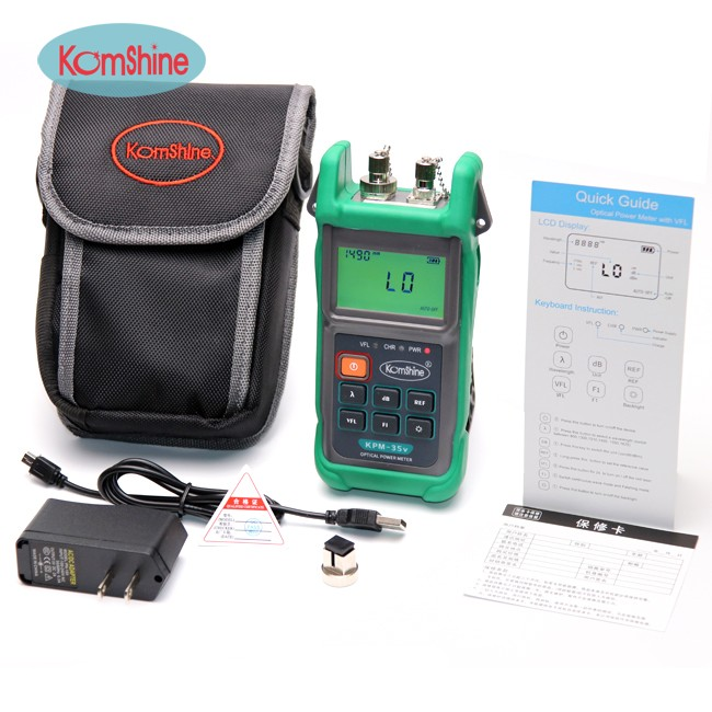 Optical Power Meter and the Visual Fault Locator Combine in 1 Komshine KPM-35V Power meter factory priceOptical Power Meter and the Visual Fault Locator Combine in 1 Komshine KPM-35V Power meter factory price