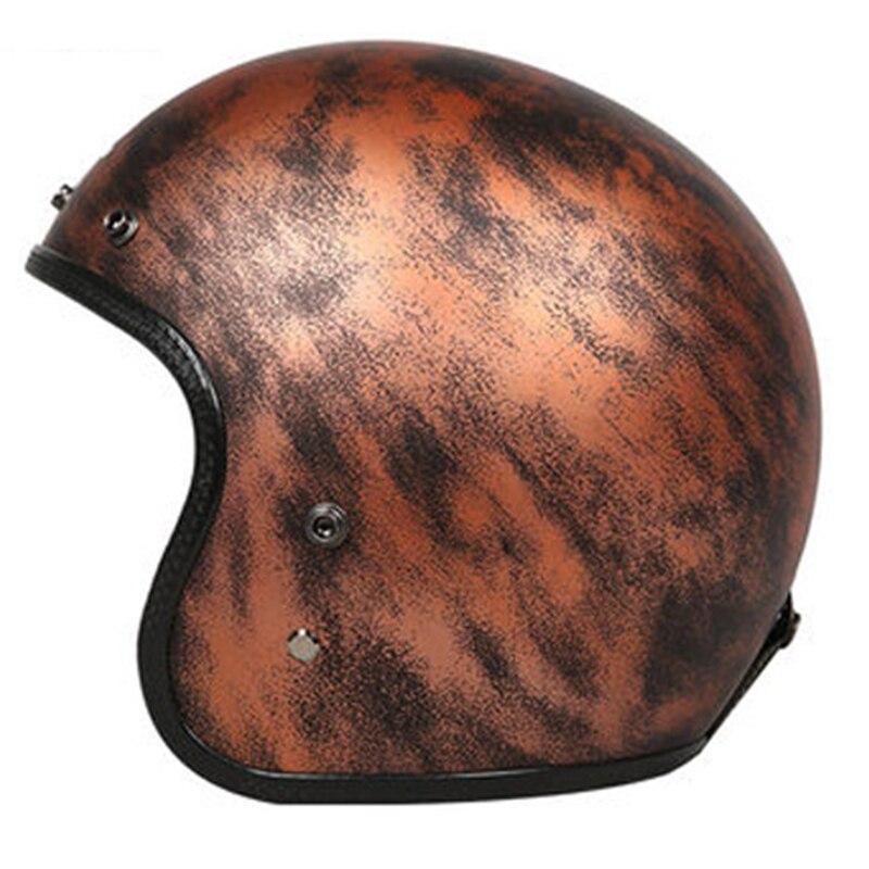 3/4 Open face casque Solide poids Léger En Fiber De Verre Shell DOT ECE Approuvé moto casque CFR Jet casque