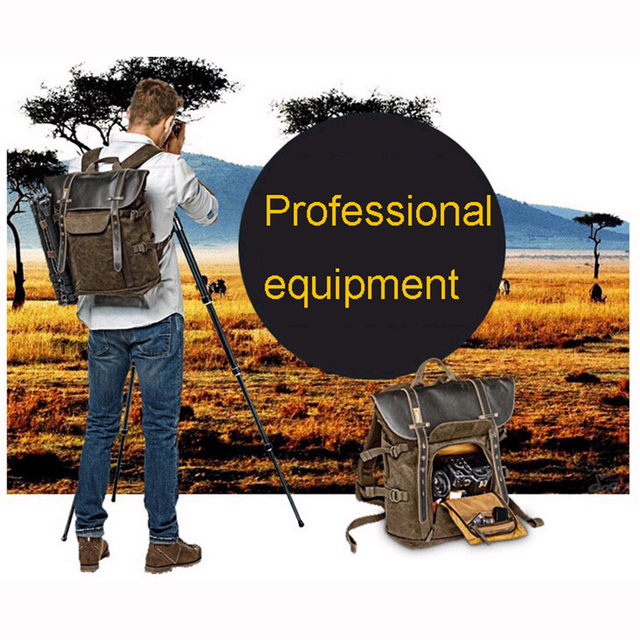 Wholesale National Geographic Africa Collection NG A5290 A5280 Laptop Backpack SLR Camera Bag Canvas Authentic Leather Photo Bag 1