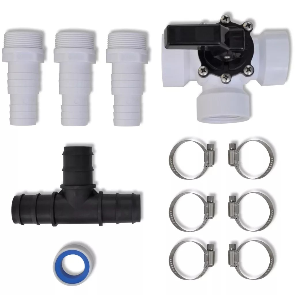 VidaXL Bypass Kit For Pool Solar Heater Bypass Kits For Solar Heating System Solar Power Water Fountain Accessories