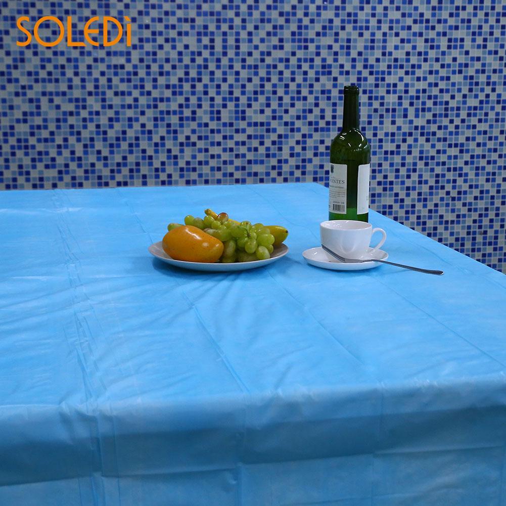 SOLEDI 20 цветов мягкий настольный бегун скатерть пластиковые товары для дома одноразовая скатерть для стола украшение стола - Цвет: Небесно-голубой