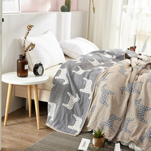 Simanfei Blankets Superfine Soft Comfort Four-layer Gauze Cotton Single Double Children Bed Bedroom Thin Towel Throw