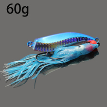 2016 new jig lures 60g jigs boat deep sea lead jig  lead squid head octopus jigs sea fishing  accessories -drop shipping