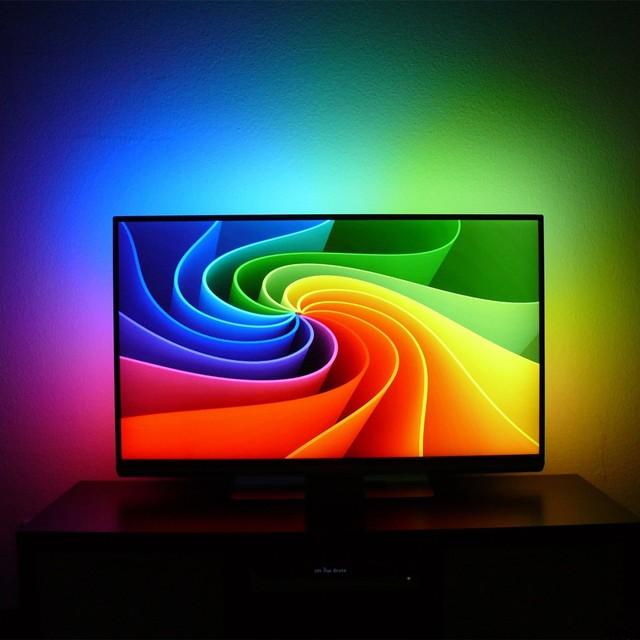 diy ambient lighting. 5V WS2801 Adalight For DJ Background Light DIY Ambient Lighting Monitor Ambilight HTPC/PC LED Diy L