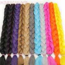 MERISI HAIR 82 inch Synthetic Braiding Hair one peice 165g Crochet Jumbo Braids Hair Extensions 29 Colors Available