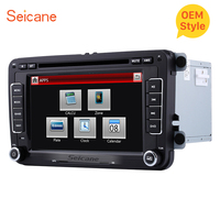 Seicane Double Car Radio CD DVD Multimedia Player GPS Navi For Seat Toledo VW POLO PASSAT Transporter Sharan Skoda Rapid/Fabia