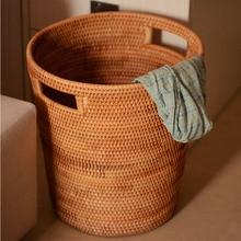 Мода ротанга корзина для грязного белья одежда корзина для хранения ванная комната продукт корзина Винтаж Декоративные ручной корзины большой