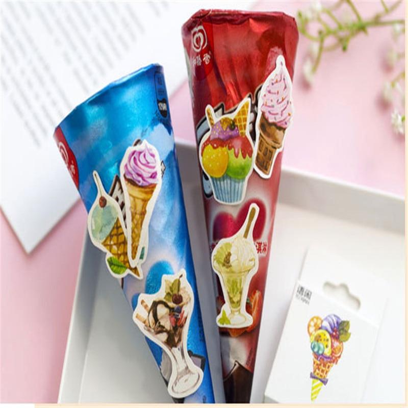 Купить с кэшбэком 50pcs/lots 3D DIY Handmade cartoon ice cream sticker Special-shaped sticker YOUE SHONE
