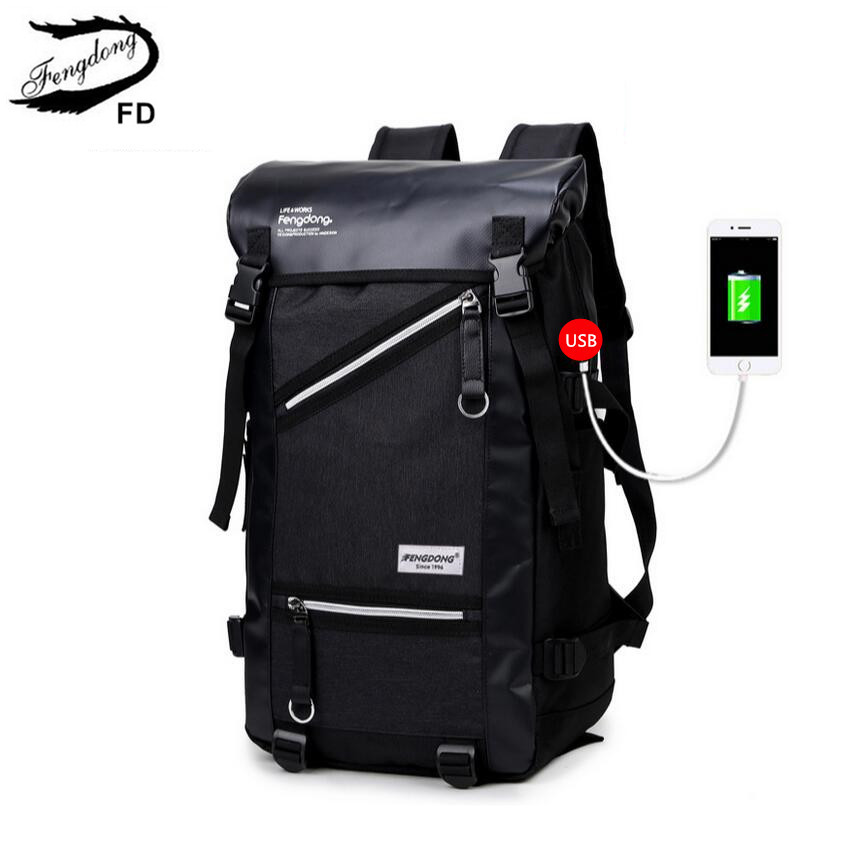 FengDong big size boys black usb backpack men travel bags male large laptop bag 15.6 college student school backpack for boy new gravity falls backpack casual backpacks teenagers school bag men women s student school bags travel shoulder bag laptop bags
