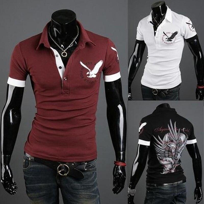 ZOGAA ALL Size Casual   Polo   Shirt Men Solid British   Polo   Shirts Sheep Head Cotton Short Sleeve Lanneret Logo XS-4XL