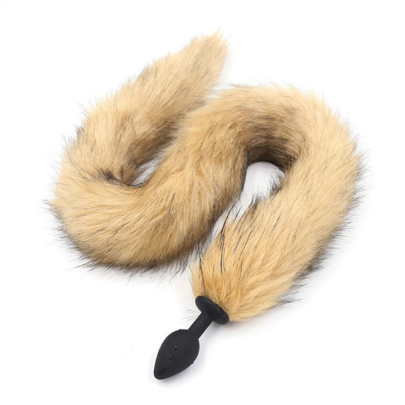 75cm Long Fox's Tail <font><b>Dog</b></font> Tail Butt Plug <font><b>Sex</b></font> Toys anal plug <font><b>sex</b></font> toy for man and woman <font><b>sex</b></font> games for couple 3 size to choose image